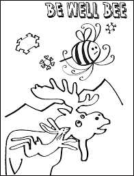be well bee coloring book wild family tv