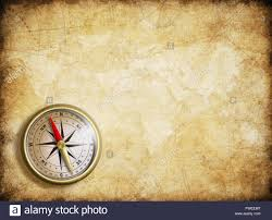 Compass Map Vintage Map Background With Compass Stock Photo Royalty Free