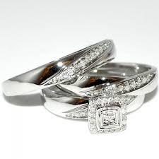 wedding ring trio sets wedding ring trio trio set wedding set 3pc mens and womens wedding