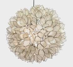 Flower Pendant Light Lotus Flower Pendant Light How To Create Rope Chandelier Home