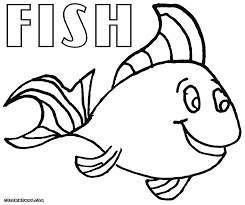 simple fish drawing for kids clip art puffer coloring page