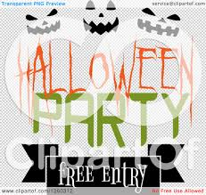 free halloween party clipart clipart of a halloween party free entry design with pumpkin faces