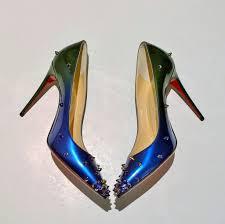 christian louboutin degraspike blue green heels sale shoes u2013 avamaria