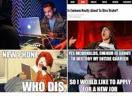 Eminem Drake Meme - home news singles videos reviews interviews ls eminem really about
