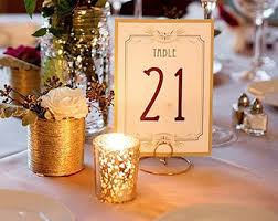 wedding table number holders table number holders etsy