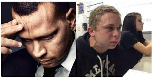 Arod Meme - trying to hold in a fart kid alex rodriguez thinking know your meme
