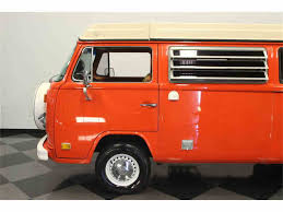 orange volkswagen van 1974 volkswagen type 2 westfalia camper van for sale classiccars