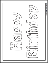 birthday coloring pages simply simple coloring pages for birthday