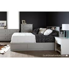 Queen Storage Beds With Drawers South Shore Vito Queen Wood Storage Bed 9021210 The Home Depot