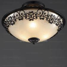 Flush Ceiling Shower Head by Rustic Black Glass Shade Semi Flush Ceiling Light For Bedroom