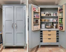 no pantry space turn an old tv armoire into a pantry cupboard