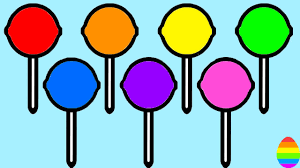 learn colors with lollipops candies coloring pages 11