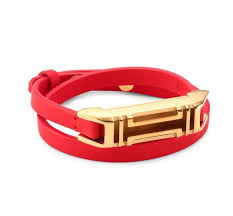 double strap bracelet images Tory burch orange and gold fitbit double wrap leather bracelet jpg
