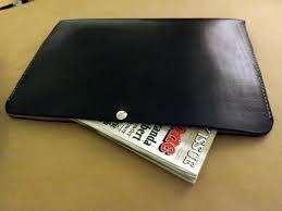 Portfolio Folder For Resume Leather Portfolio Document Sleeve Large