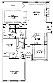 3 bedroom flat plan view one story modern house plans bath and