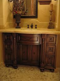 Distressed Bathroom Vanities Hand Made Custom Distressed Alder Bow Front Bathroom Vanity By Ps