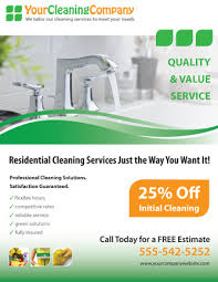 promote your cleaning company with this house cleaning services