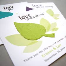 eco friendly wedding favors leaf plantable seed paper favor plantable seed wedding favors