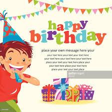 happy birthday invitation vector art getty images