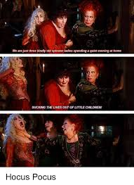 Hocus Pocus Meme - we are just three kindly old spinster ladies spending a quiet