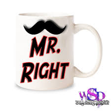 mr right funny coffee mugs cups novelty wedding gift secret santa
