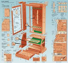 Woodworking Plans Bookcase Cabinet by Best 25 Gun Cabinets Ideas On Pinterest Wood Gun Cabinet Gun