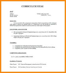 cv format for freshers electrical engg projects sle engineering resume for freshers 6 resume format for fresher