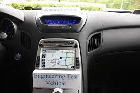 hyundai genesis coupe navigation system exclusive sneak peek at hyundai genesis coupe s nav