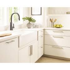 kitchen cabinets with silver handles amerock mulino 7 9 16 in 192 mm center to center silver