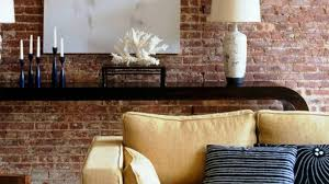 home interior décor with exposed brick walls youtube