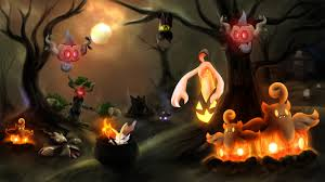 halloween ghost wallpaper ghost type pokemon wallpaper wallpapersafari