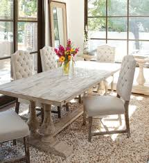 distressed wood table and chairs ava camelback tufted linen dining chair dining chairs ava and linens