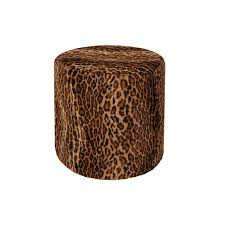 leopard ottoman formdecor
