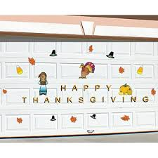 garage happy thanksgiving shapes steel garage door