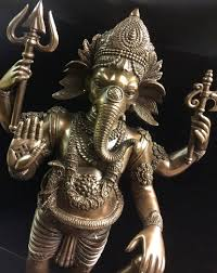 God Statue by Hindu Elephant God Lord Ganesh Warrior Statue U2013 Cold Cast Bronze
