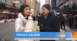 today show s guthrie and matt lauer try to stay warm at
