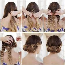 step by step easy updos for thin hair bun hairstyles for your wedding day with detailed steps and