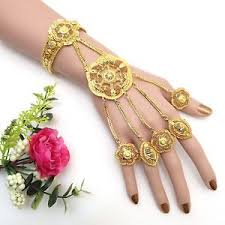 bridal ring bracelet images Indian asian bridal jewellery ethnic wear 22ct gold plated jpg
