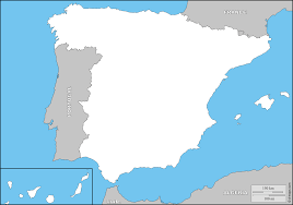 Spain France Map by Spain Free Map Free Blank Map Free Outline Map Free Base Map