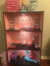 Doll House Furniture Target Custom Shopkins Storage I Used Wall Paper For The Back Drop
