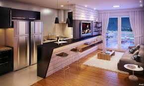 open concept kitchen unifies kitchen with other parts of the house