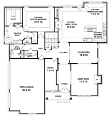 4 bedroom house plans 1 story marvelous 4 bedroom 2 story house plans photos ideas house design
