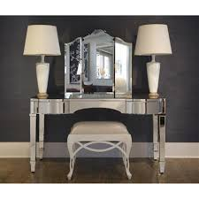 tierney hollywood regency curved mirror vanity desk kathy kuo home