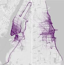 Chicago Bike Map Data Visualization Site U0027s Running Route City Maps Look Like