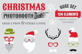 Christmas Photo Booth Props Photobooth Photos Graphics Fonts Themes Templates Creative
