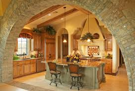 dining room kitchen island shapes with brick veneer and dining