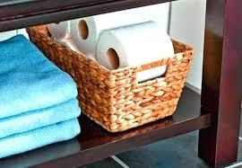 White Wicker Bathroom Storage Wicker Bathroom Storage Baskets Chateau Range Ivory Wicker Storage