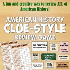 american history clue style review game classic board games