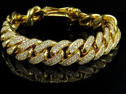 cuban gold bracelet images Solid 10k yellow gold miami cuban link vs diamond 8 5 inch 12 9mm jpg