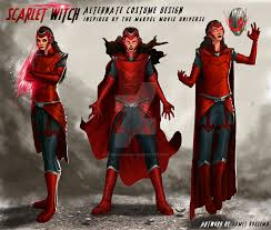 wanda halloween costume scarlet witch concept art alternate costume design by jamesbousema